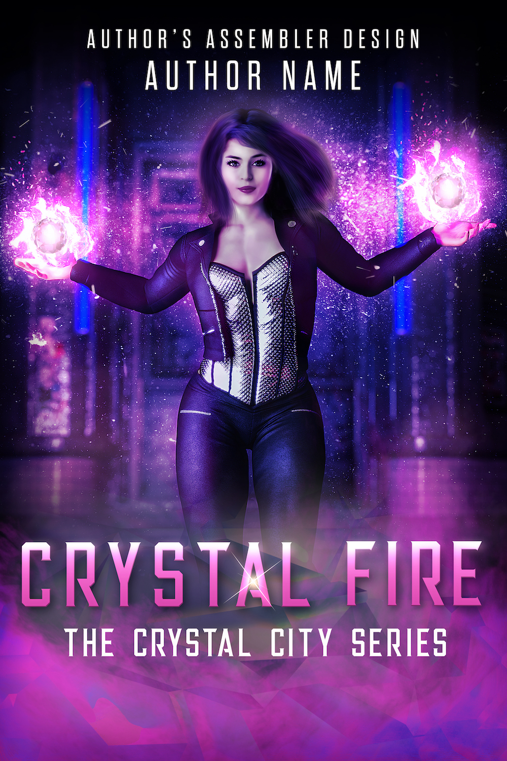 Fantasy Premade Cover - Crystal Fire